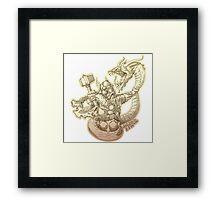 Norse god Thor Framed Print