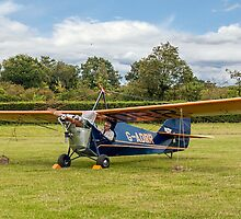 Aeronca C3 G-ADRR post restoration engine runs by Colin Smedley