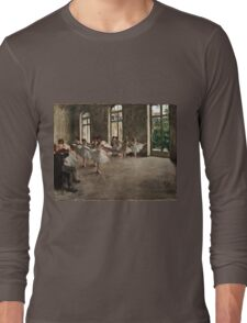 Edgar Degas - The Rehearsal ( 1873 - 1878)  Long Sleeve T-Shirt