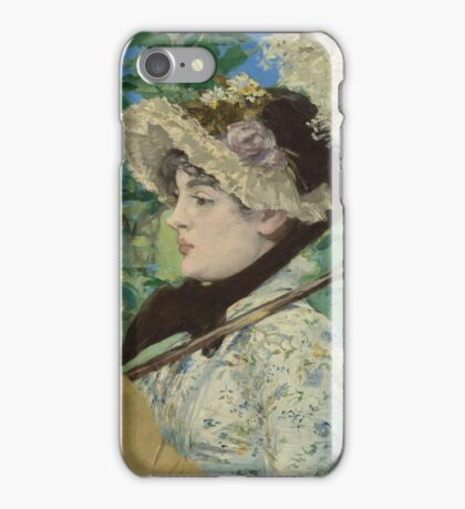 Edouard Manet - Jeanne (Spring) iPhone Case/Skin