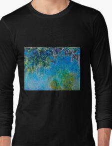 Claude Monet - Wisteria (circa 1925)  Long Sleeve T-Shirt