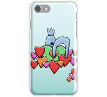 Cute Koala Sleeping on Hearts iPhone Case/Skin