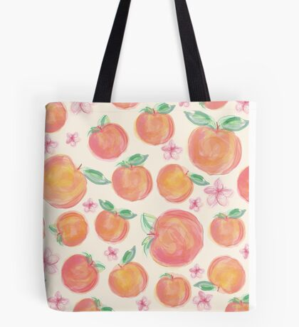 Peaches Botanical Tote Bag