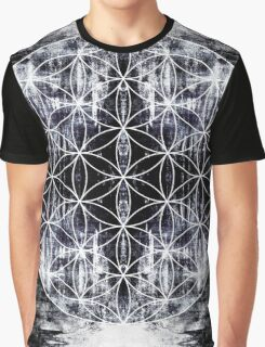 flower of life 9-16 bw Graphic T-Shirt