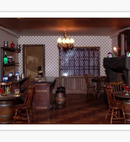 The Fishermans Rest Bar Room Sticker