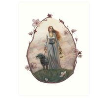 The Mistress of the Black Dog Art Print