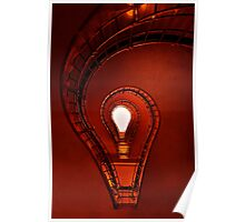 The lightbulb staircase Poster