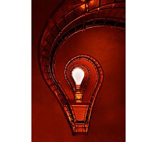 The lightbulb staircase Photographic Print