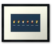 Kirk Evolution! Framed Print
