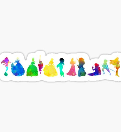11 Princesses Inspired Silhouette Sticker