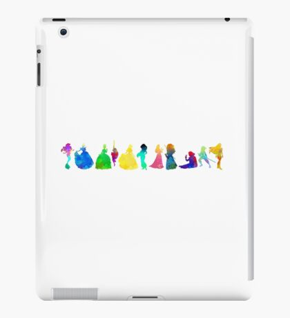 11 Princesses Inspired Silhouette iPad Case/Skin