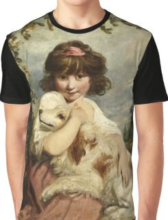 Joshua Reynolds - A Young Girl and Her Dog ( 1780)  Graphic T-Shirt