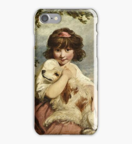 Joshua Reynolds - A Young Girl and Her Dog ( 1780)  iPhone Case/Skin