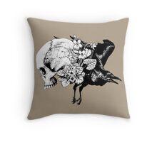 Ravenskull Throw Pillow