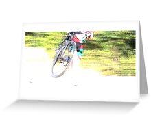 Running Bike  Greeting Card