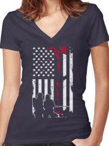 Firefighter - Fireman clothing Women's Fitted V-Neck T-Shirt