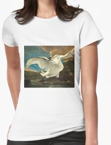 Jan Asselijn - The Threatened Swan (1640 - 1652)  Womens Fitted T-Shirt