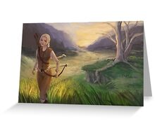 Wandering The Land - Fantasy Archer Painting Greeting Card