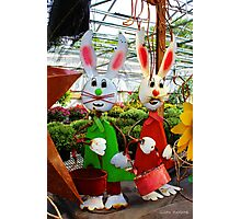 Bunnies with Baskets...Easter is Coming! Photographic Print