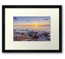 Baltic sunrise Framed Print