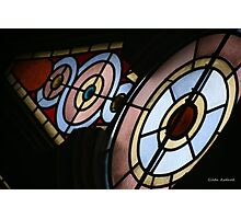 Stained Glass Window at the Eldridge Street Synagogue in NYC Photographic Print