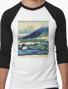 Hokusai Katsushika - Umezawa in Sagami Province Men's Baseball ¾ T-Shirt