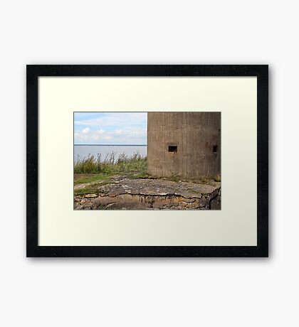 gun turret sea fort Framed Print