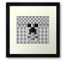 Cute Face Pixelate Framed Print