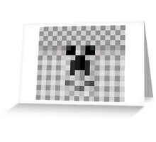Cute Face Pixelate Greeting Card