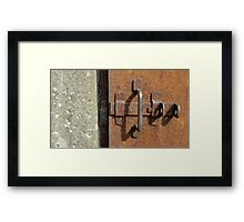 prison door with deadbolt Framed Print