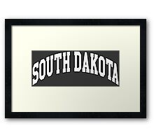 South Dakota Classic Framed Print
