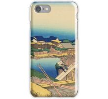 Hokusai Katsushika - Honjo Tatekawa, the timberyard at Honjo iPhone Case/Skin