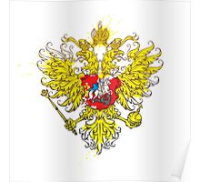 Stylized coat of arms of Russia Poster