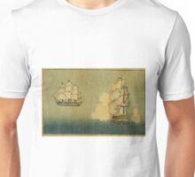 Anonymous - Dutch Ship - Circa 1875 - Woodcut Unisex T-Shirt