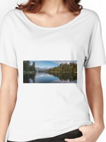 Southern Alps reflection on Lake Matheson, NZ Women's Relaxed Fit T-Shirt