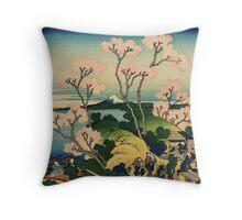 Hokusai Katsushika - Goten-yama-hill, Shinagawa on the Tokaido Throw Pillow