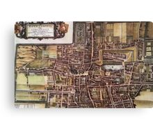 Replica city map of The Hague 1649 Canvas Print