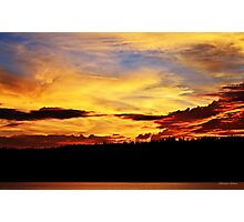 Fiery Sunset Photographic Print