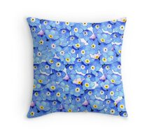Forget-Me-Not Flowers Throw Pillow