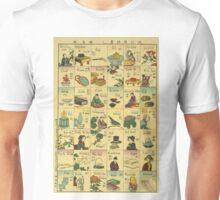 Anonymous - Fashionable Melange of English Words - 1887 - Woodcut Unisex T-Shirt