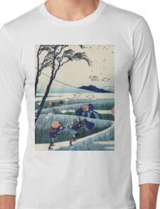 Hokusai Katsushika - Ejiri in Suruga Province Long Sleeve T-Shirt