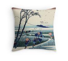 Hokusai Katsushika - Ejiri in Suruga Province Throw Pillow