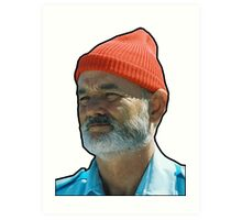 Bill Murray as Steve Sizzou  Art Print