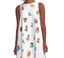 Baby Animals A-Line Dress