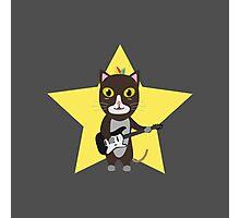 Rock-Music Cat Photographic Print
