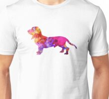 Blue Gascony Basset in watercolor Unisex T-Shirt