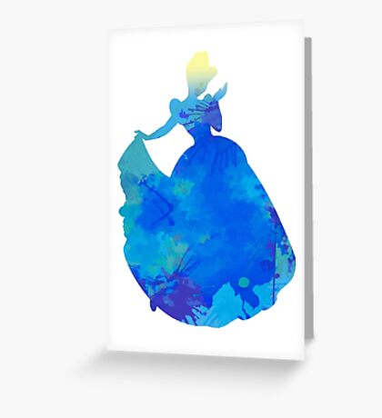 Princess Inspired Silhouette Greeting Card