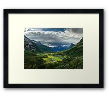 Down in the valley Framed Print