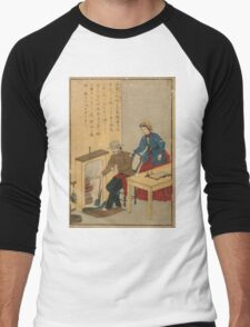 Anonymous - James Watt - Woodcut - Circa 1875 - Woodcut Men's Baseball ¾ T-Shirt