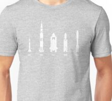 The Evolution of Space Rockets Unisex T-Shirt